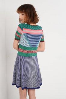 Платье в полоску 2019 геометрическое