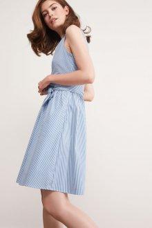 Платье в полоску 2019 голубое