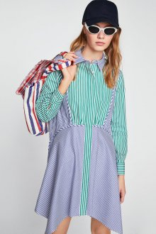 Платье в полоску 2019 контрастное