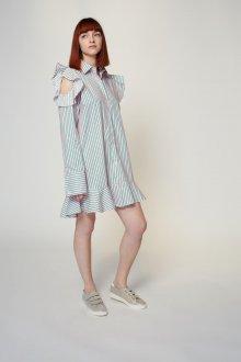 Платье в полоску 2019 оверсайз