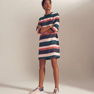 Платье в полоску 2019 разноцветное