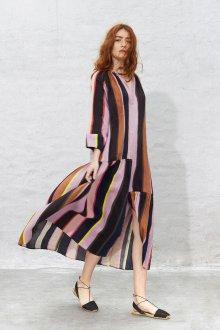 Платье в полоску 2019 шифоновое