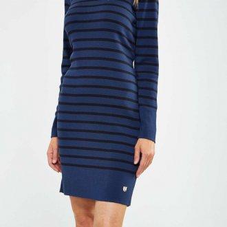 Платье в полоску 2019 синее