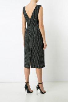 Платье в полоску 2019 с открытой спиной