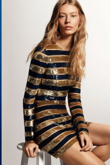 Платье в полоску 2019 золотое