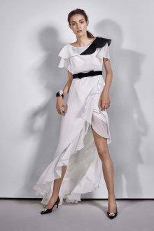 Платье с воланами асимметричное