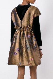 Платье с воланами атласное