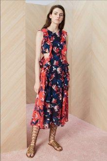 Платье с воланами цветочное