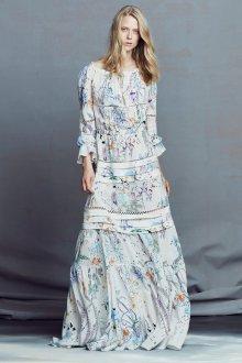 Платье с воланами длинное