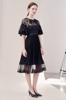 Платье с воланами коктейльное