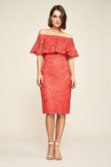 Платье с воланами кружевное