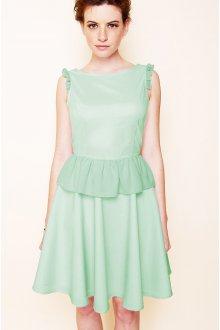 Платье с воланами пастельных тонов