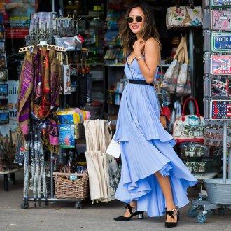 Платье с воланами плиссе