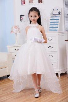 Вечернее платье для девочки асимметричное