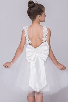 Вечернее платье для девочки с бантом