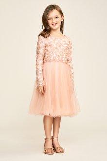 Вечернее платье для девочки бежевое