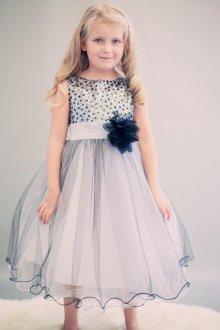 Вечернее платье для девочки черно-белое
