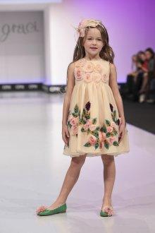Вечернее платье для девочки цветочное