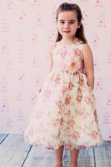 Вечернее платье для девочки с цветами