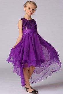 Вечернее платье для девочки фиолетовое