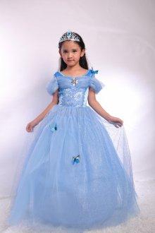 Вечернее платье для девочки голубое