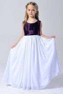 Вечернее платье для девочки комбинированное