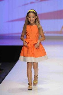 Вечернее платье для девочки оранжевое