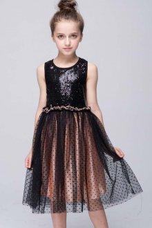 Вечернее платье для девочки с пайетками