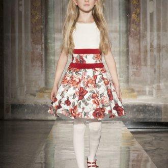 Вечернее платье для девочки с розами