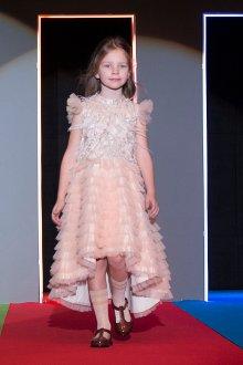Вечернее платье для девочки с рюшами