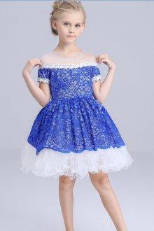 Вечернее платье для девочки синее