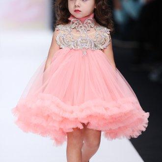 Вечернее платье для девочки со стразами