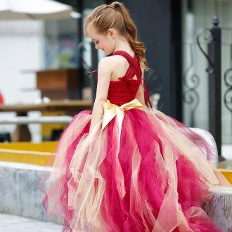 Вечернее платье для девочки из тюля