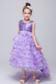 Вечернее платье для девочки с воланами