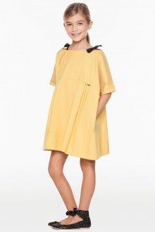 Вечернее платье для девочки желтое