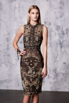 Платье карандаш коричневое