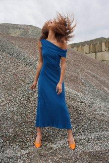 Платье карандаш синее