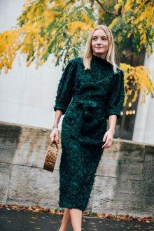 Платье карандаш зеленое