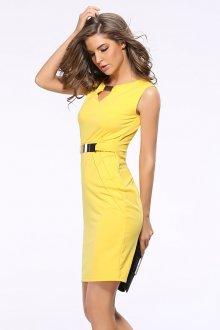 Платье карандаш желтое