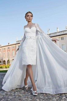 Платье трансформер свадебное с отстегивающейся юбкой