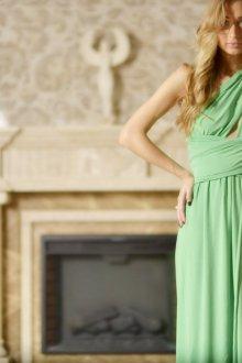 Платье трансформер зеленое