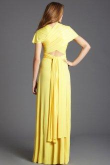 Платье трансформер желтое