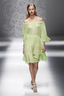 Blumarine весна лето 2019 зеленое платье