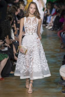 Elie Saab весна лето 2019 платье белое