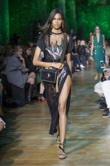 Elie Saab весна лето 2019 черное платье