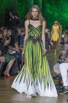 Elie Saab весна лето 2018 платье с принтом