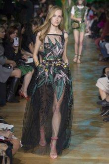 Elie Saab весна лето 2019 платье прозрачное