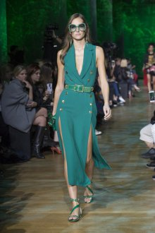 Elie Saab весна лето 2019 платье с двумя разрезами