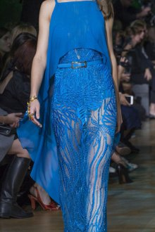 Elie Saab весна лето 2019 синее платье