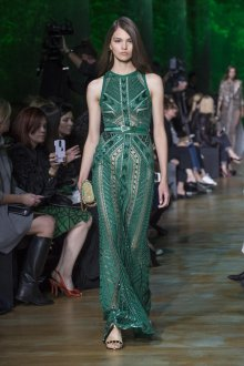 Elie Saab весна лето 2018 зеленое платье